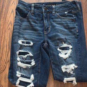 American Eagle fake ripped jeans!